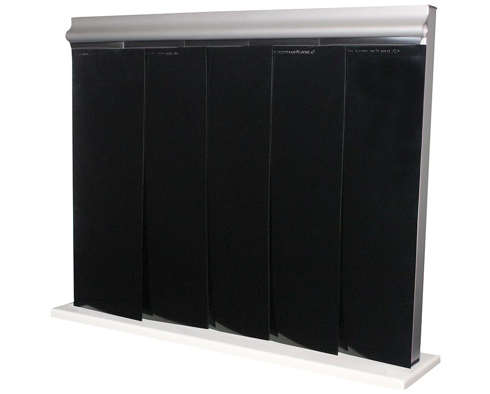 Vorhang-Farbe-schwarz reinraumvorhang
