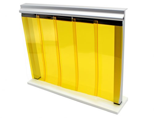 Reinraumvorhang gelb